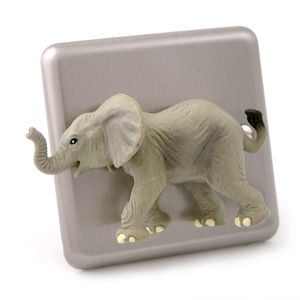 Brushed Chrome Animal Light Switches - children's lighting