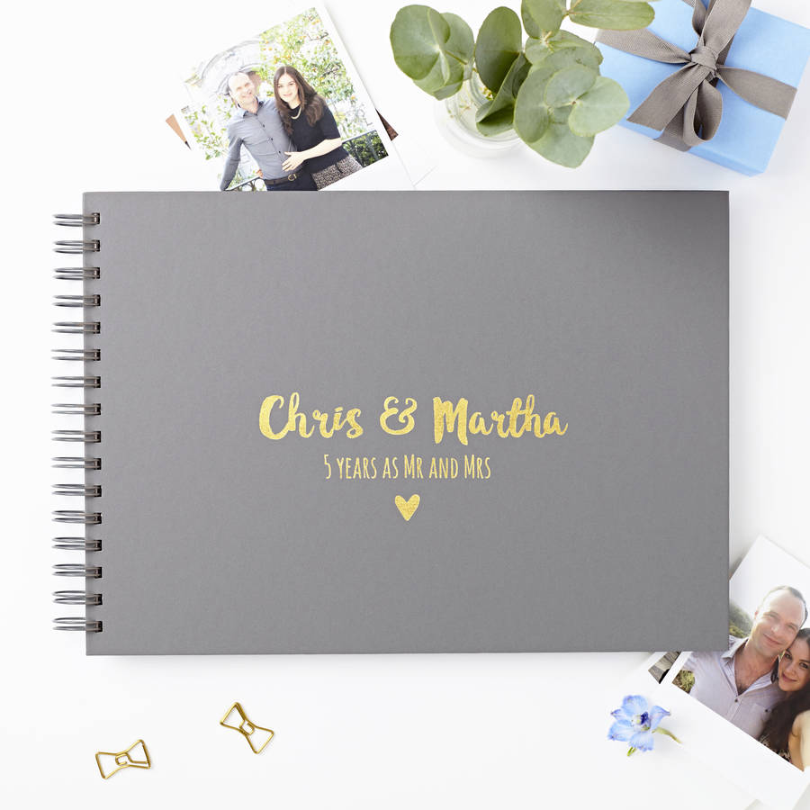 Wedding Gifts For Travel Couples The Ultimate List 2020: Personalised Couple's Photo Album By Martha Brook