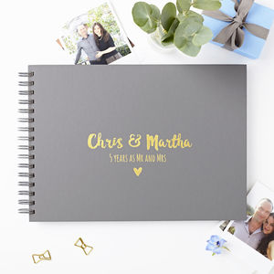 Personalised Couple's Photo Album - winter sale