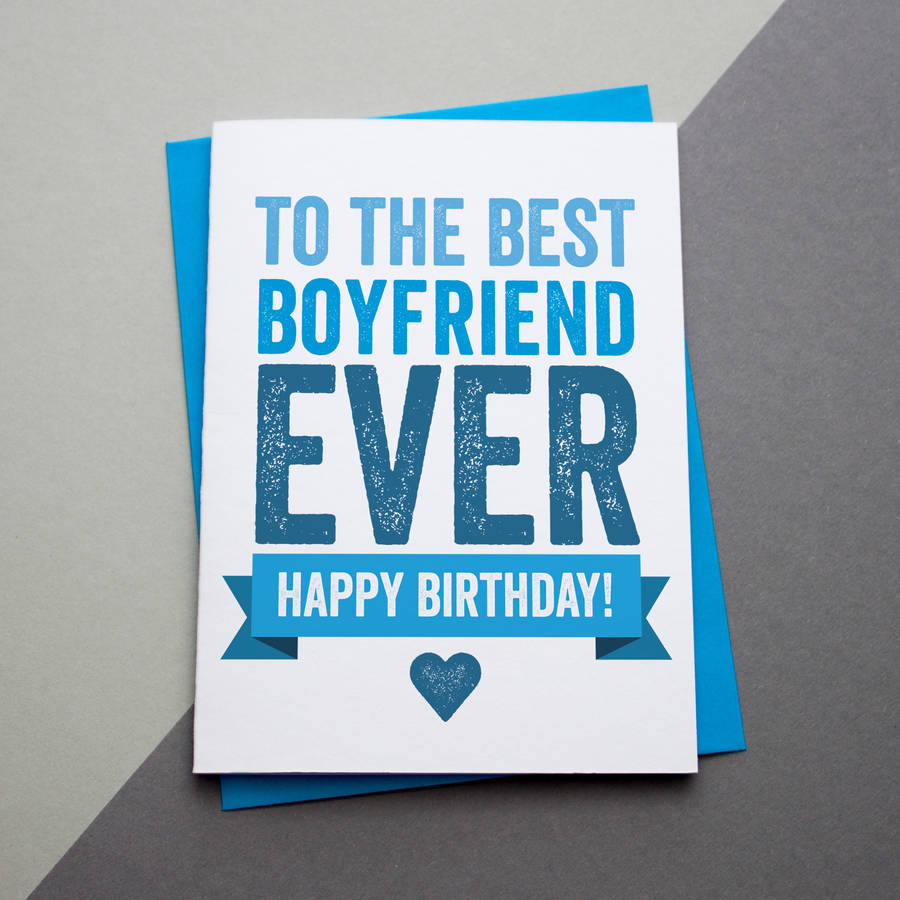 Birthday Wishes For Boyfriend And Boyfriend Birthday Card: Happy Birthday Boyfriend By A Is For Alphabet
