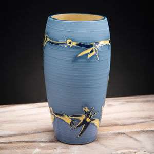 Handmade Ceramic Curved Vase Coast Series
