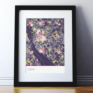 Personalised Floral Abstract Map Print - view all