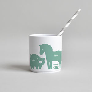 Farm Animal Tumbler Green - new in baby & child
