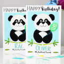 Personalised Panda Relation Birthday Card