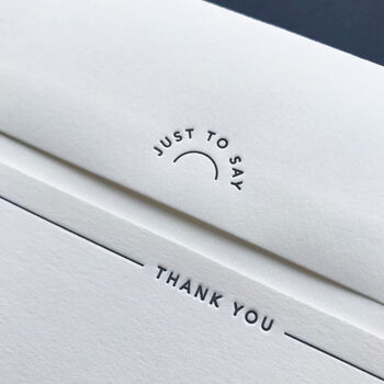 'Thank You' Letterpress Notecards
