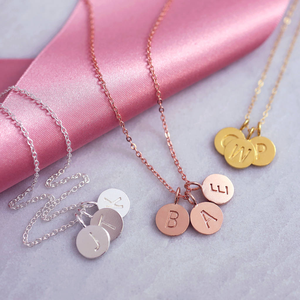 ebc745c87 Personalised Sterling Silver Disc Initial Necklace By J S Jewellery