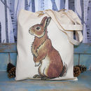 Rabbit Illustration Eco Tote Bag