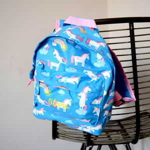 Personalised Kids Unicorn Backpack