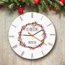 Personalised Glass Christmas Clock