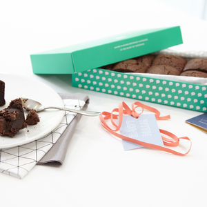 Box Of Eight Love Brownies - cakes & sweet treats