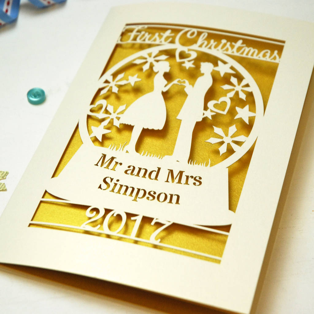 personalised first married christmas card by pogofandango ...