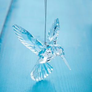 Clear Humming Bird Christmas Decoration