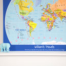 Personalised Child's World Map