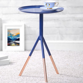 Tripod Table With Copper Legs
