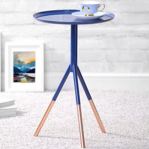 Tripod Table With Copper Legs - furniture