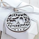Wooden 50th Birthday Tag