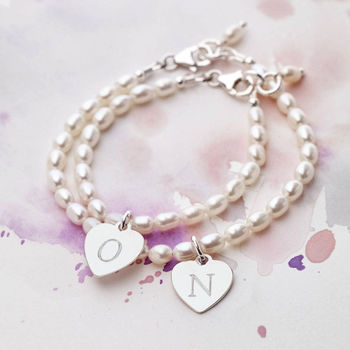 Personalised Mother And Daughter Bracelet Set