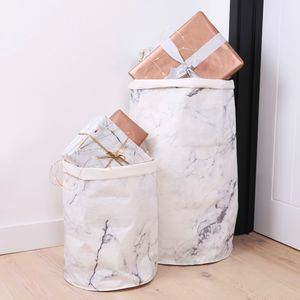 Round Marble Effect Storage Sack - christmas sale