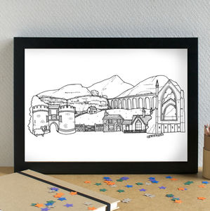 Yorkshire Dales Skyline Art Print - architecture & buildings