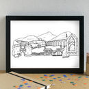 Yorkshire Dales Skyline Art Print Unframed