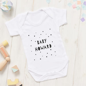Personalised Babygrow - new lines added
