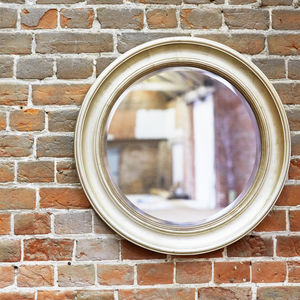 Round Champagne Mirror - living room