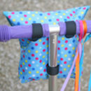 Child's Personalised Blue Spotty Scooter Bag