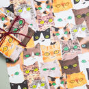 Cats Gift Wrap Cats Heads Set Of Two Sheets