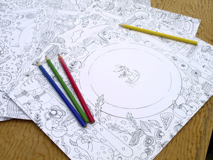 Kids Colour In Placemat Pad