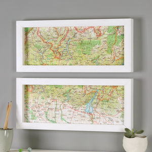 Italian Lakes Hand Drawn Map Print - posters & prints