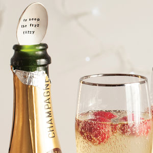 Silver Plated Champagne Spoon - personalised engagement gifts