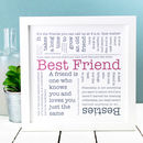Gift For Friend 'Best Friend' Quotes Print
