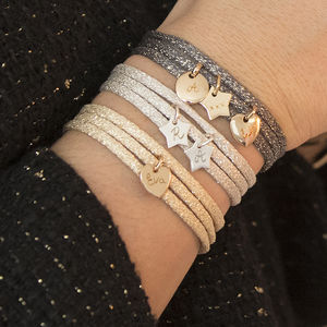Personalised Sparkle Wrap Bracelet - new in jewellery