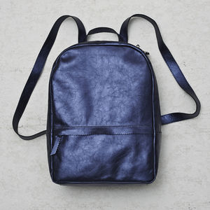 Metallic Leather Backpack - summer sale