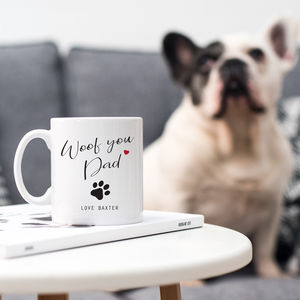 Personalised Dog Dad Gift Mug - mugs