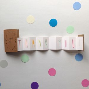 Thank You Concertina Card - shop by category