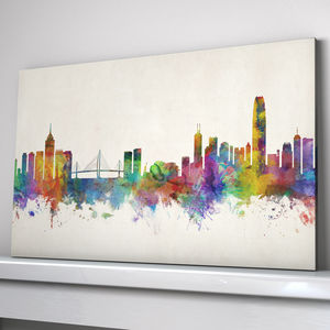 Hong Kong City Skyline Art Print