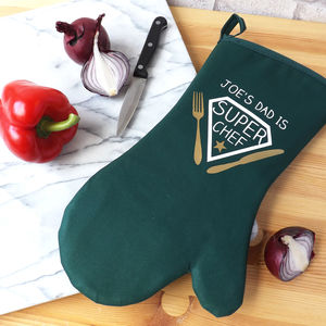 Personalised Super Chef Oven Glove - oven gloves & mitts