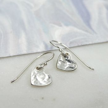 Silver Petite Love Heart Earrings