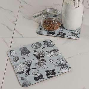 Love Scotland Set Of Two Placemats