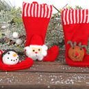 Mini Stocking Christmas Tree Decoration, Three Designs