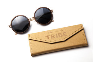 ''Two Moons'' Wood Sunglasses - sunglasses