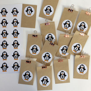 Penguin Advent Stickers Or Penguin Advent Craft Kit - advent calendars