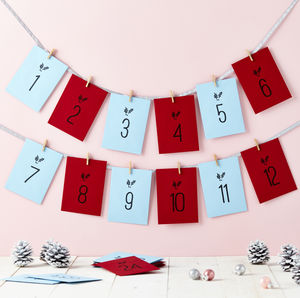 Children's Advent Activities Calendar - garlands & bunting