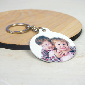 Personalised Photo Keyring - keyrings