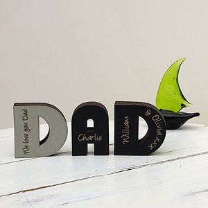 Personalised Dad Letters Keepsake