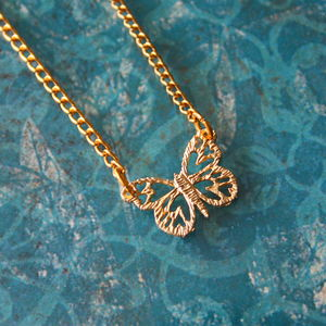 Children's Butterfly Charm Necklace