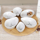 Chantilly Woodland Style Six Bowl Entree Platter