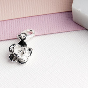 Layered Flower Charm In Sterling Silver - charm jewellery