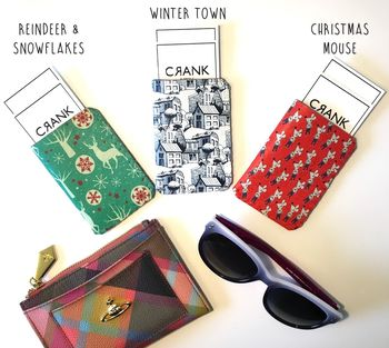 Winter Christmas Card Holder For Travel/Business Cards